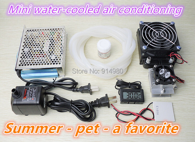 New Semiconductor Cooler Water Cooling System Of Small Air Conditioning  Refrigeration Mini Pet Conditioning Fan Cooling