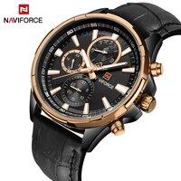 2017 Luxury Brand NAVIFORCE Chronograph Men Sports Watches Waterproof Leather Casual Quartz Male Wristwatch Relogio Masculino