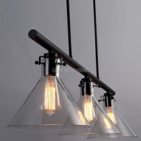 Vintage American Country Industrial Pendant Lamp Loft 3 Heads Creative Personality Edison Bulb Pendant Light For Living Room