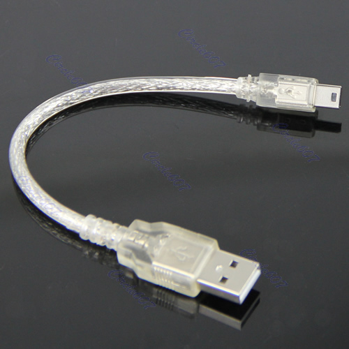 1Pc USB2.0 Short Extension Cable A Male to Mini 5-pin B Male USB Adapter Cable