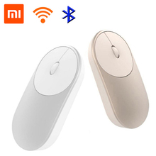 лучшая цена Original Xiaomi Mi Wireless Mouse Portable Game Mouses Aluminium Alloy ABS Material 2.4GHz WiFi Bluetooth 4.0 Control Connect