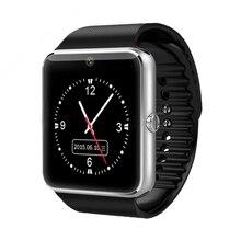 Bluetooth-verbindung Smart Uhr GT08 Splitter Gold Metall Smartwatch mit Schrittzähler Kamera Unterstützung TF SIM Karte Für Android-Handy