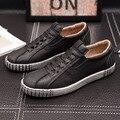 Nuevo 2017 de la Marca de Lujo Zapatos de Los Hombres de Inglaterra Tendencia Transpirable Zapatos de Ocio Zapatos Casuales de Cuero Para Hombre Footear Holgazanes de Los Hombres pisos