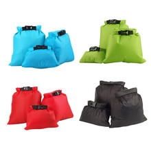 3pcs 1 Set Outdoor  Waterproof Dry Storage Bag Swimming Storage Bag Sack Pouch Ultralight Portable Outdoor Travel Rafting Bag