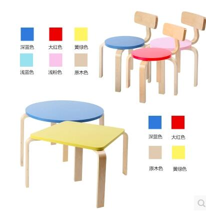 Childrens bench small solid wood chair. Colour. A small bench. ...