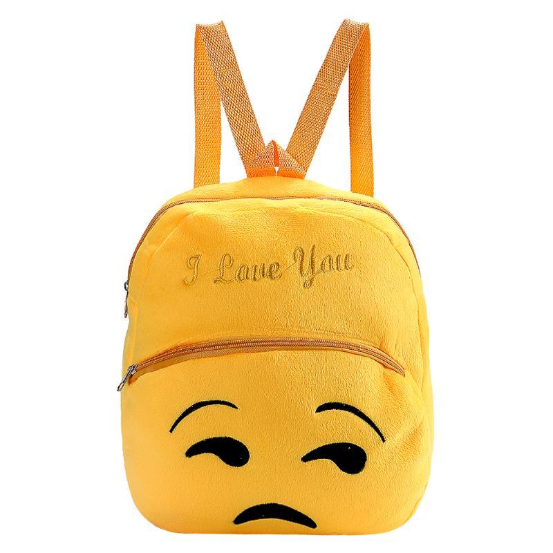 New Fashion Smile Emoji Face School Bag Children Emoji Backpack Expression Mochila Escolar Women Backpacks 3d Printing Bags