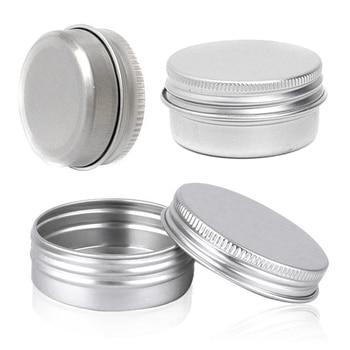 Juego/5 piezas 5 piezas Mini caja de plata de aluminio contenedor vacío tarro de maquillaje olla A prueba de hojas 30 ml 52 * gafas de viaje vacías de aluminio de 20mm