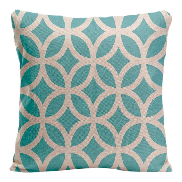 Geometric Pattern Cushion Cover Decorative Pillow For Sofa Car Delectable Geometric Pattern Decorative Pillows