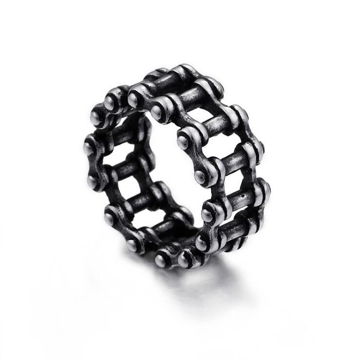 Jewelry Men/'s Stainless Steel Wide 12mm Link Chain Vintage Biker Band Ring
