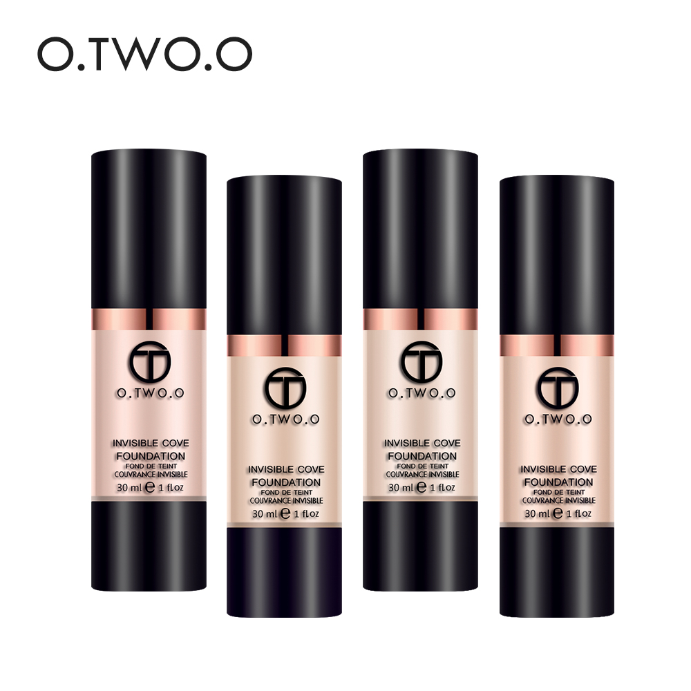 O.TWO.O Full Coverage Make Up Fluid Foundation Concealer Whitening Moisturizer Oilcontrol Waterproof Liquid Foundation make up forever lift concealer