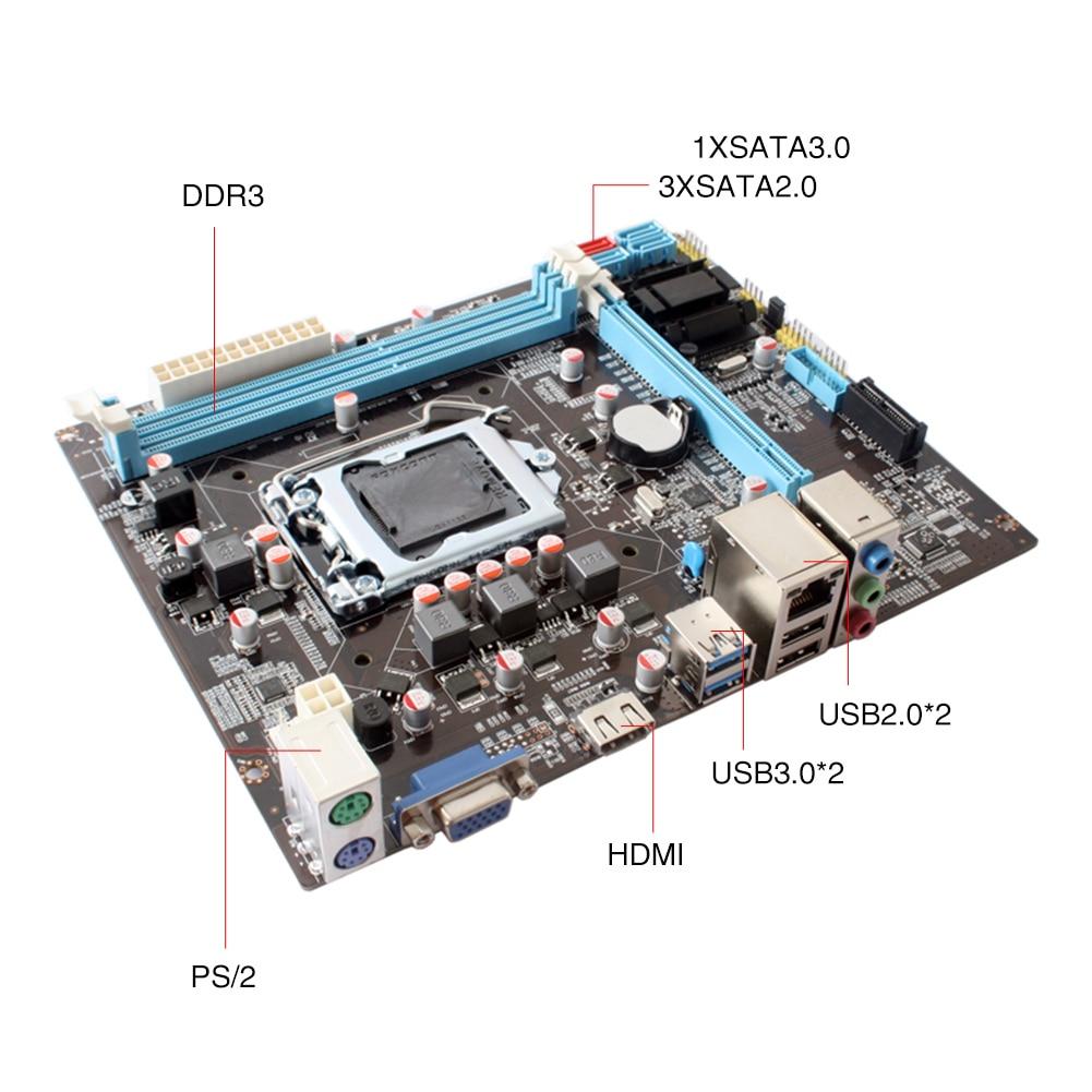 B75 Stable double canal Support Ddr3 bureau grande mémoire accessoires bureau carte mère LGA1155 ordinateur forte Performance