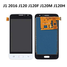 J120F LCD For Samsung Galaxy J1 2016 J120 Case Display Touch Screen Assembly SM-J120F