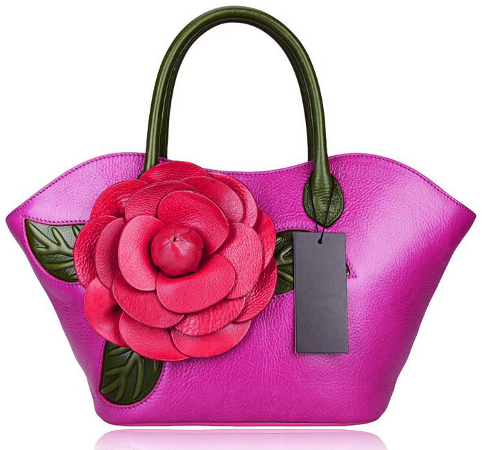 Italian leather Custom logo wholesale drop shipping genuine cow genuine leather women famous brands Floral Grain top  bagItalian leather Custom logo wholesale drop shipping genuine cow genuine leather women famous brands Floral Grain top  bag