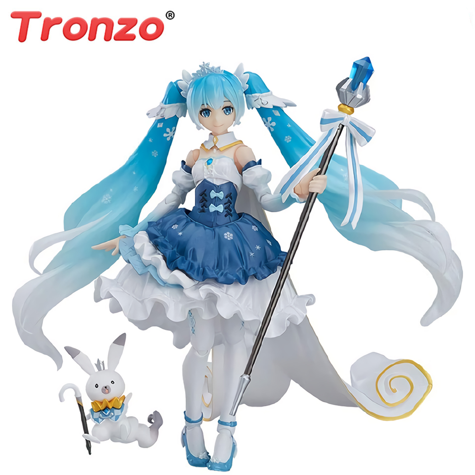 Hatsune Miku Vocaloid 15th Anniversary Snow MIKU Action Figure Figurine No Box