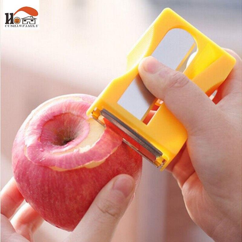 Cushawfamily apple peeler sacapuntas forma peladoras y zesters fruta de cepillad