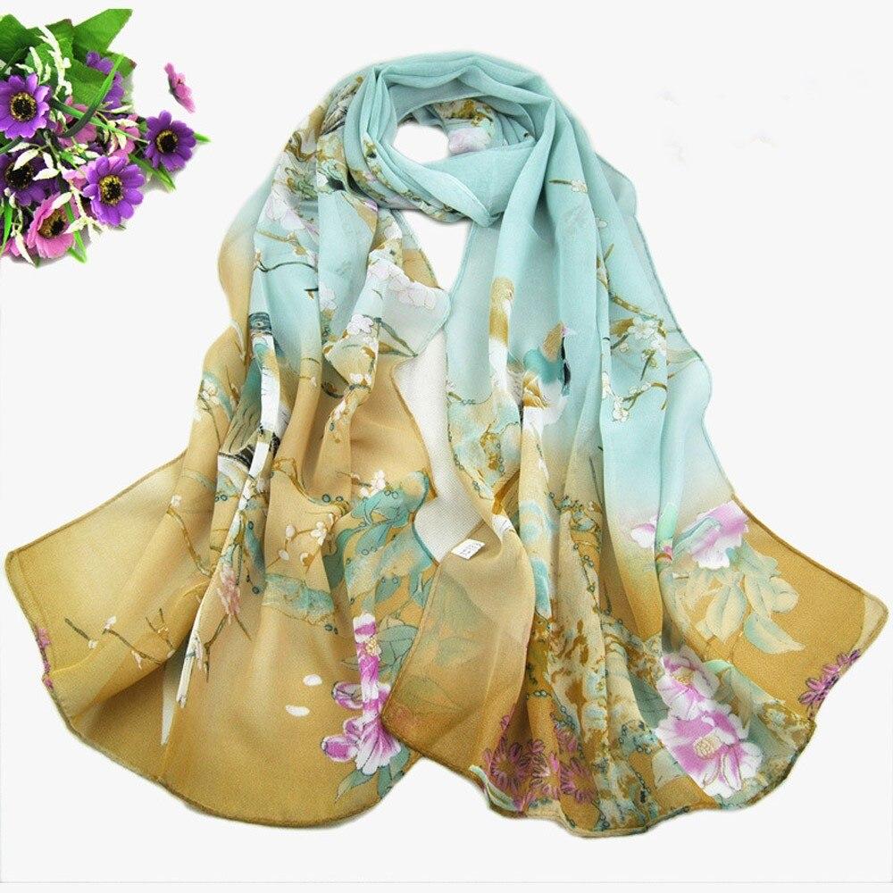 Fashion Arrival Women Print Long Leopard Shade Shawl   Scarf     Wrap   Chiffon   Scarves   Scarfs For Ladies Luxury Silk Bufandas Mujer #