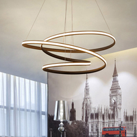 Modern led Chandelier for Kitchen Dining Room Living Room Suspension luminaire Hanging White Black Bedroom Chandelier avize