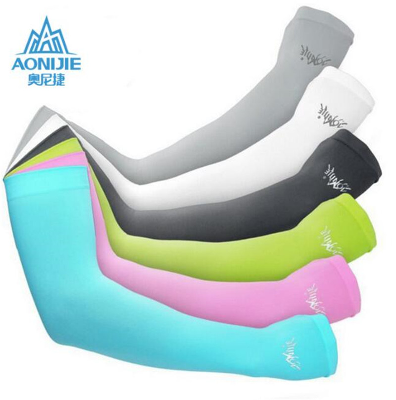 1 Pair Sunscreen Breathable Arm Cuff Sleeves Sport Bicycling Driving Running Gloves UV Protected Arm Warmer For Sports Fitness