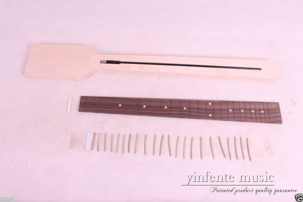 Electric Guitar neck Solid wood Paddle Frerboard Low Price 22 fret #4 handmade new solid maple wood brown acoustic violin violino 4 4 electric violin case bow included
