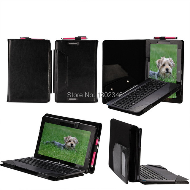"New Crazy Horse Folio Stand Leather Case With Keyboard Cover For ASUS T100 T100TA Transformer Book 10.1"" Tablet Free Shipping"