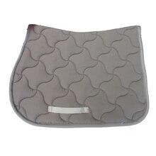 Седельная подушка для лошади, светильник, серая седельная подушка для прыжков, амортизирующая черная Высококачественная стеганая подушка для седла из хлопка