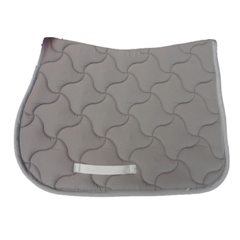 Horse Saddle Pad Light Grey Jumping Saddle Pads Shock Absorption Black High Quality Quilted Cotton Saddle Cushion
