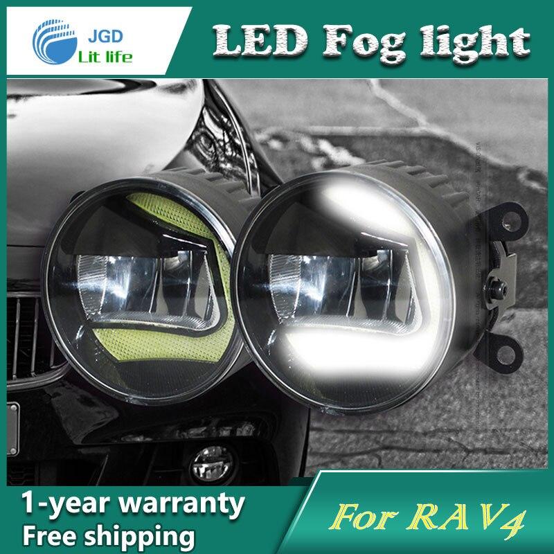 Super White LED Daytime Running Lights case For Toyota RAV4 Drl Light Bar Parking Car Fog