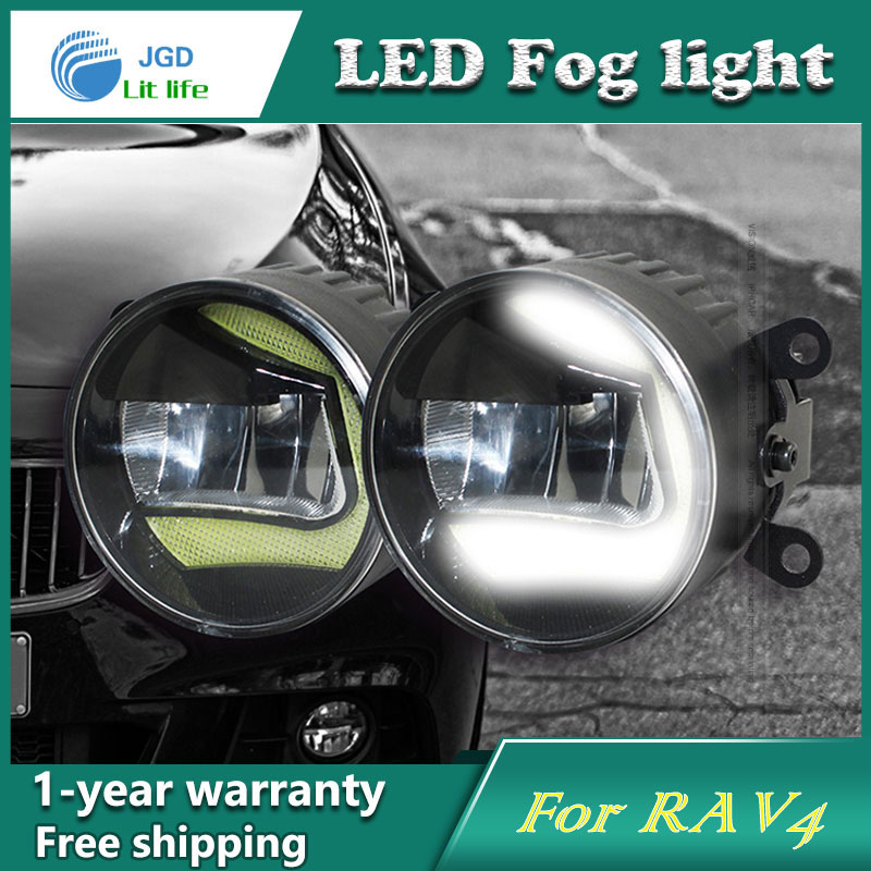 Super White LED Daytime Running Lights case For Toyota RAV4 Drl Light Bar Parking Car Fog Lights 12V DC Head LampSuper White LED Daytime Running Lights case For Toyota RAV4 Drl Light Bar Parking Car Fog Lights 12V DC Head Lamp
