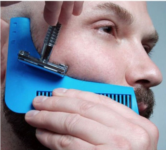 New Comb Beard Trimmer Shaping Tool Sex Real Man Gentleman Beard Trim Template Beard Combs Shaving Hair Molding 1