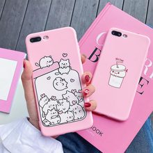 TPU Case Cute Soft Cases For iphone 7 Plus 8 X XS XR Xs Max  6s 6 Cover High Quality Phone