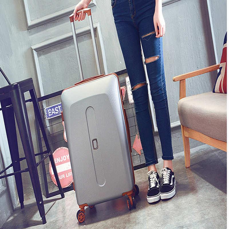 Лидер продаж! 20 22 24 ABS + PCpolular чемодан с колесами для девочек розовый Роллинг багажа дорожная сумка Тележка Сумки женские чемоданы