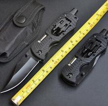Multi-Функция складной Инструменты, открытый Отдых EDC выживания Rescue Tool Ножи с подсветкой multi-Функция al Отвёртки