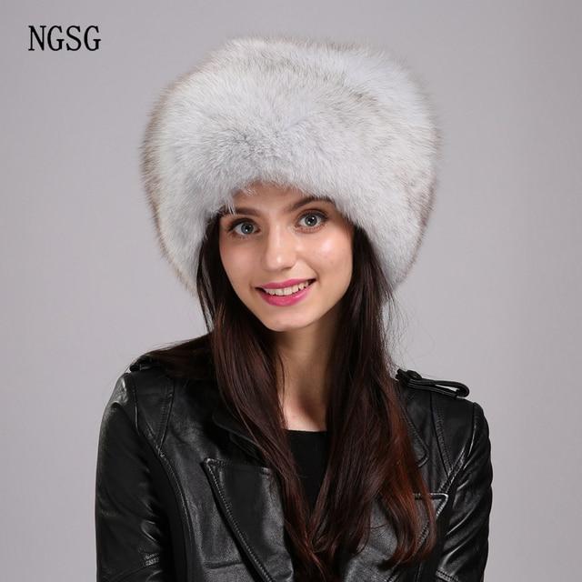 Russo Cappello Bomber Pelliccia Mongolia Donne Materiale di Pelliccia di  Volpe Cappello di Inverno Cappelli Adulti c79a2755fd5d