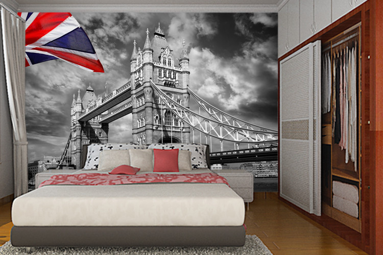 London parliament city urban photo wallpaper custom wall mural vintage uk flag wallpaper giant art room decor bedroom kids room in wallpapers from home