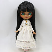 Factory Neo Blythe Doll Black Hair Jointed Body 30cm