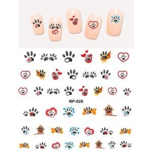 Image 4 - 네일 아트 뷰티 워터 데칼 슬라이더 네일 스티커 동물 애완 동물 발톱 발 발 프린트 스위트 하트 블랙 고양이 RP025 030