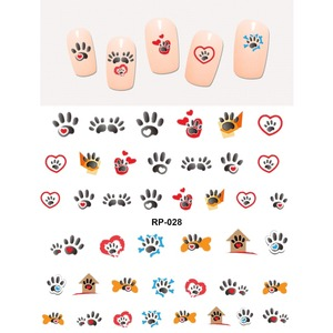 Image 4 - NAIL ART BEAUTY WATER DECAL SLIDER NAIL STICKER ANIMAL PET CLAW PAW FOOT PRINT SWEET HEART BLACK CAT RP025 030