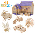3D wood dragon peacock  puzzles for children adults animals puzzles vehicle puzzles wood toys  for learning and educational toys