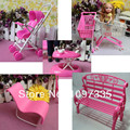 Free shipping girl birthday gift 5 items stroller handcart supermarket trolley walker accessories for barbie doll Kelly doll