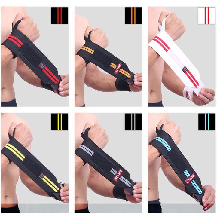 1Pcs Professional WeightLifting Sport Wristband Gym Wrist Brace Thumb Support Straps Wraps Bandage Fitness Training Safety Hand