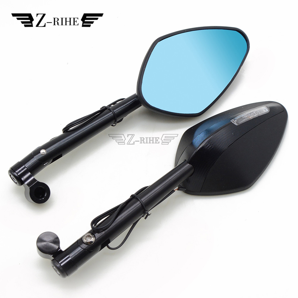 For YAMAHA FJR XJR 1300 Racer fazer XT 600 TDM 900 TMAX XMAX VMAX 1200 XSR900 Universal Motorcycle Rear View Side LED Mirrors цена