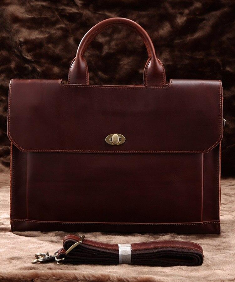 Rare Genuine Cow Leather Men s Briefcase Laptop font b Handbag b font Messenger Bag Free