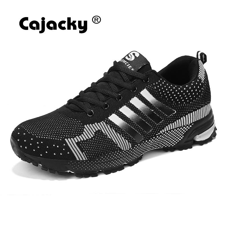 Cajacky Men Fashion Casual Shoes Big Size 46 Men Shoes Breathable Sneakers New Male Trainers Summer Autumn Unisex Shoes Krasovki cajacky unisex sneakers 2018 mesh casual shoes men mesh lace up male fly weave krasovki men fashion light breathable trainers