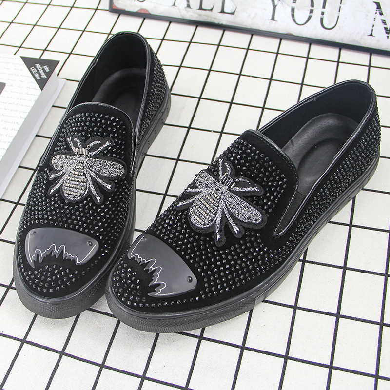 Sapatos Lona Primavera Designer Escritório De Black Homens Moda Marca Ms8116161 Calçado Social qRwEtT1x