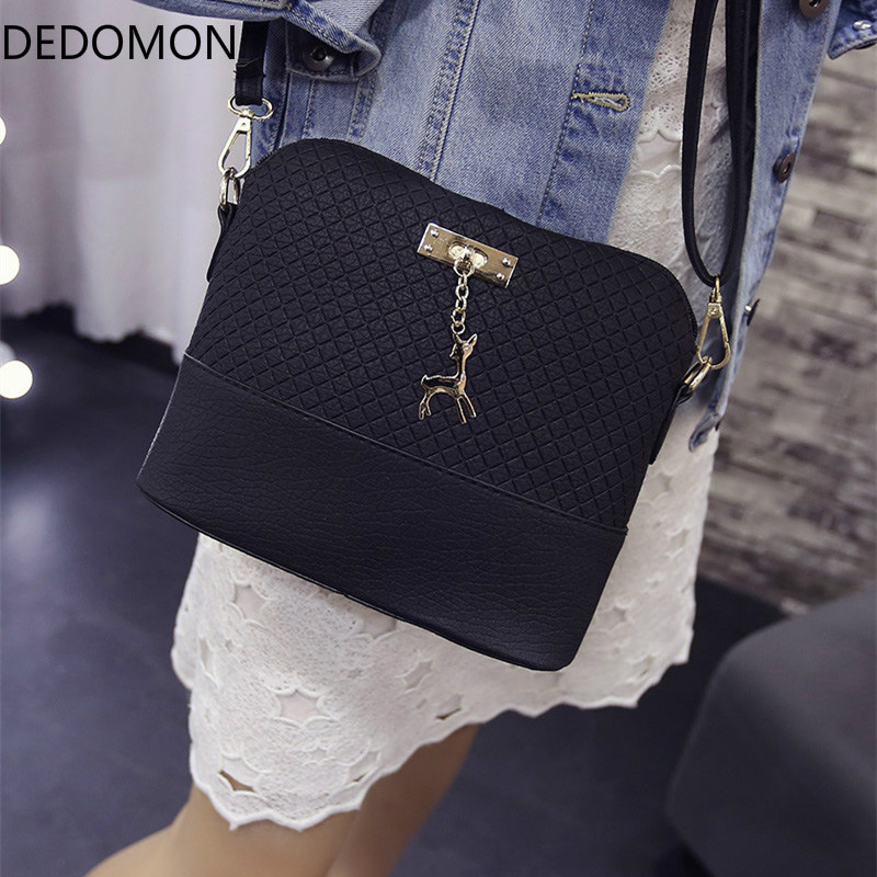 HOT SALE 2018 Women Messenger Bags Fashion Mini Bag With Deer Toy Shell Shape Bag Women Shoulder Bags handbag New Gifts fashion women mini messenger bag pu leather shell shape bag crossbody shoulder bags with deer toy popular