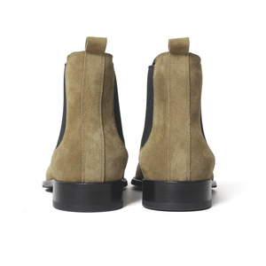 Image 5 - VIKEDUO 2020 קלאסי צ לסי מגפי גברים בעבודת יד זמש קרסול מגפי זכר העידו סתיו כיכר הבוהן גברים של נעל חתונה משרד botas