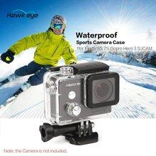 цена на Waterproof Anti-Crash Hard Shell Housing FPV Sports Motion Camera Case Mount for Gopro Hero 3 SJCAM Hawkeye Firefly 8S 7S