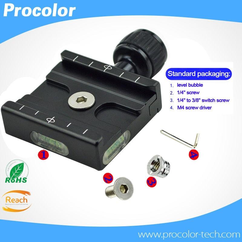 """bilder für QR50 Schnellwechselplatte Clamp Kompatibel mit Gradienter Stativ-kugelkopf QR-50 Aluminium 3/8 """"gewindebohrung 1/4"""" adapter"""