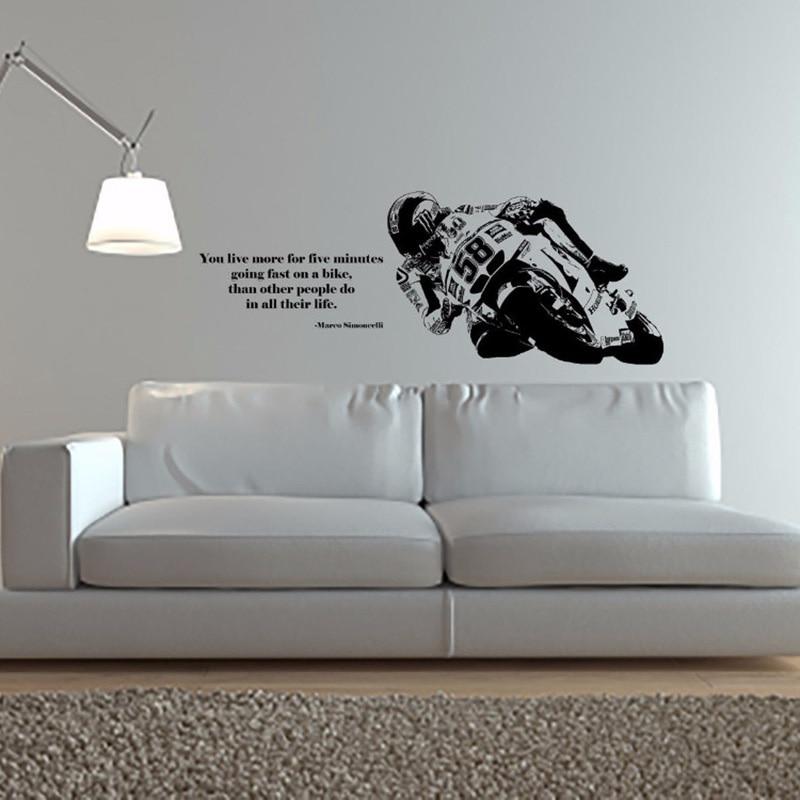 YOYOYU Наклейка на стену Виниловая искусство домашний декор наклейка велосипед мотоцикл Спорт наклейка украшение для детской комнаты Съемный...