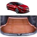 O envio gratuito de fibra especial mat mala do carro de couro tapete de carga para hyundai elantra avante i35 2011 2012 2013 2014 2015